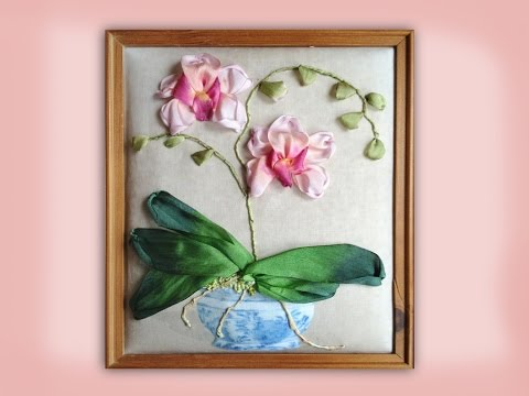 Tutorial: How to embroider a silk ribbon orchid