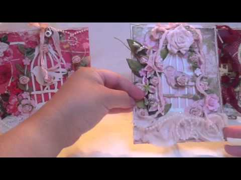 Shabby Chic Tim Holtz bird cage cards by Christine!! :)