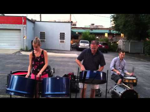 Tropical Shores Steel Drums at first friday in KC