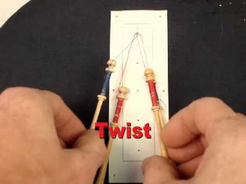 How to work a Twist in Bobbin Lacemaking