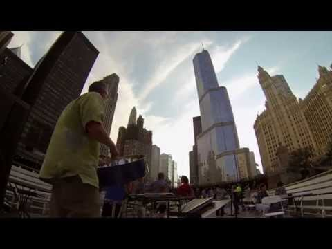 Kent Arnsbarger Steel Drums Chicago - Sugar Island music video 2014