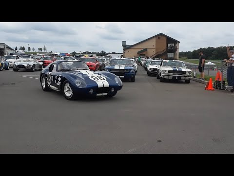 Shelby Cobra,Daytona Coupe,Shelby GT350 & GT500  Roar Off For Parade Laps At the 2019 Team Shelby