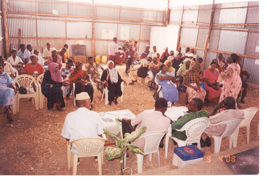 Copi members from all corners of the Coastal Region in Mombasa, gather at one of the meeting halls to discuss the feeding programme  and the free education.