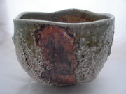 New Chawan from soda kiln