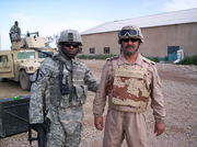 CPT Biah with Major Hussien