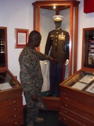 SAMUEL IN THE MARINES' MUSEUM