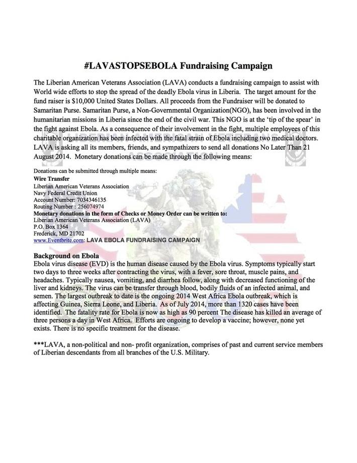 #LAVASTOPSEBOLA Fund-raising Campaign