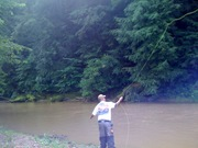 Pete Fishing in Clear Creek, Ohio!