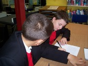 Sam and Andrew working on the Mark Robson story