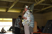 Peter Crowley and Gordon Atkinson explaining how the Rehab will work - Elders Day Rabi Oct 2008