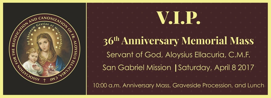 Ticket 36th Anniversary Mass - April 8, 2017