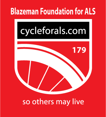 Blazeman Cycle for ALS logo