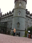 Ron is front of the Inverary Castle, Argyll, Scotland