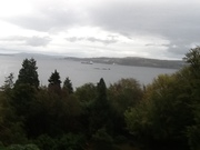 View from our room in Scotland.
