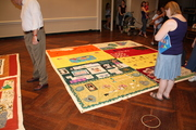Museum of Amer.History display of AIDS Quilt Panels