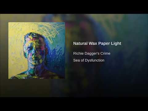 Richie Dagger's Crime - Natural Wax Paper Light