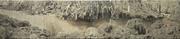 HS_tak berakar, tak berpucuk, painting #09 (No Roots, No Shoots), 2011_puff ink on linen canvas_4 panels_ 200x1200cm_low