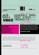 OK VIDEO - The new generation of Indonesia video artists