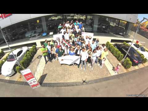 "Dji Phantom Lebanon ''Porsche Club Lebanon Rides for a Cause"" with ''Heartbeat'' 27/4/2014"