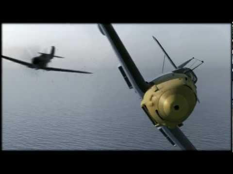 Spitfire,Messerschmitt dogfight