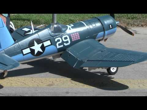 "F-4U Corsair 63"" Folding Wings Flight REVIEW in HD!"