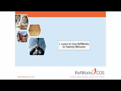 1.0 Introduction - Learn to Use RefWorks in Twenty Minutes