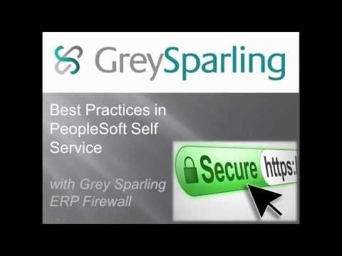 Operational Excellence in PeopleSoft Self Service - Part 1