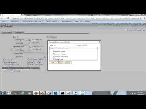 "Peoplesoft Financials 9.2 ""How To Define User Preferences Procurement"""