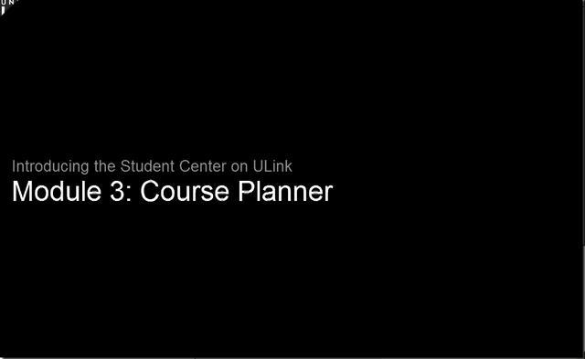 Module 3: Course Planner