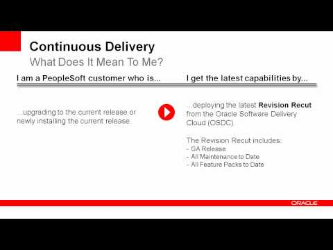 PeopleSoft Continuous Delivery Model