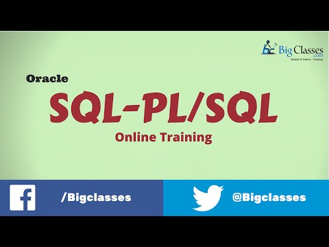 Oracle SQL - PL / SQL Training Video | Oracle SQL - PL / SQL Tutorials