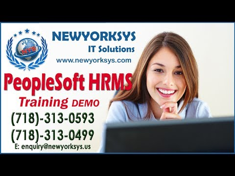Peoplesoft HRMS Online Training - Newyorksys.com
