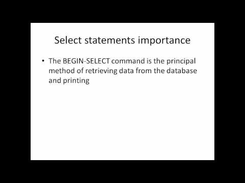 Peoplesoft SQR  videos
