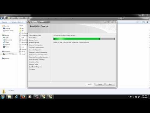 Video #3 - Installation of SQL Server 2008 for Peoplesoft, JDK, Tuxedo, Weblogic Server