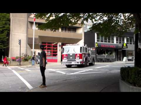 Vancouver Fire Engine 8 Responding | *HD*