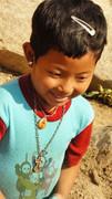 克钦族难民儿童