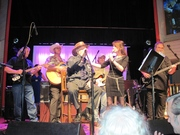 Red Simpson and me singing a duet at his 80th birthday party at Buck Owens Crystal Palace