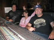 In Audio Dallas Studio with Co-producer Tony Brown. Just playing.