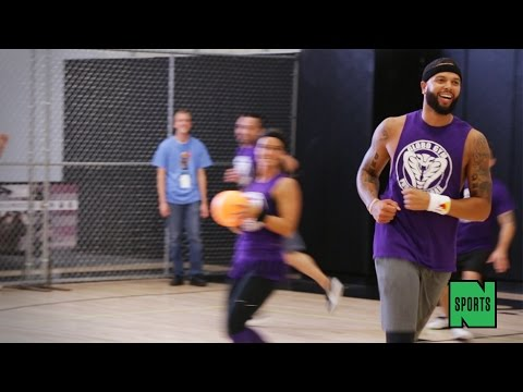 Deron Williams and the Brooklyn Nets at the 2014 Celebrity Dodge Barrage