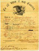 William Henry Ackert - Civil War Discharge Papers