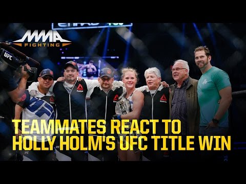 Teammates React to Holly Holm's UFC Title Win