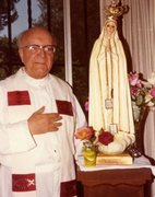 Fr. Aloysius and Statue of Our Lady of Fatima