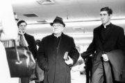 Fr. Aloysius At Airport Before Leaving For Fatima, Portugal