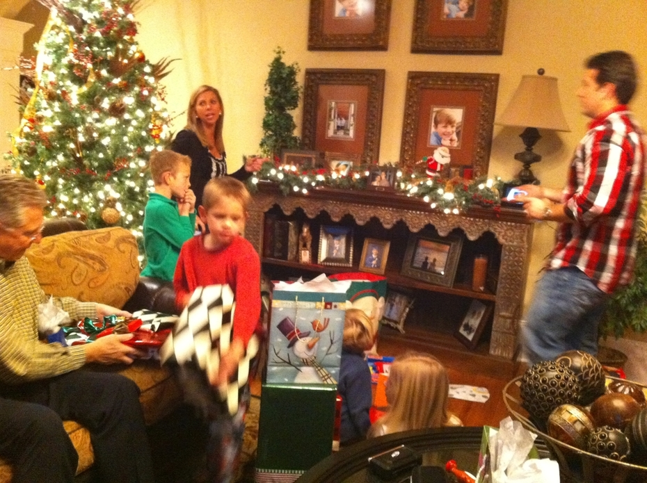Christmas 2010 opening gifts