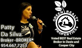 Patty Da Silva South Florida Award Winning Broker at Green Realty Properties