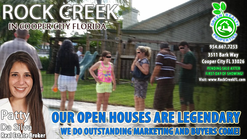 Legendary Open Houses in Cooper City Florida by Green Realty Properties - 954-667-7253