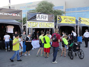 Stephen Murray's Stay Strong Booth by ARF