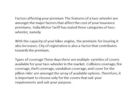 Tips for Choosing the Best Two Wheeler Insurance Policy In India