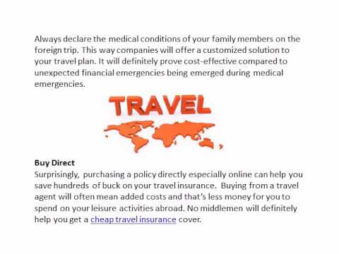 How to reduce the cost on your travel insurance