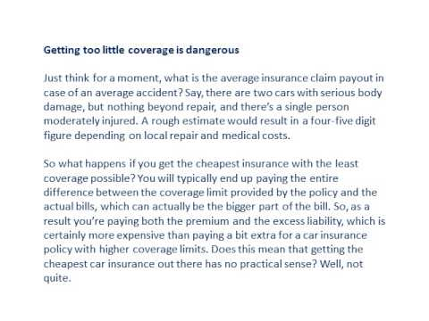 The cheapest car insurance should still be adequate